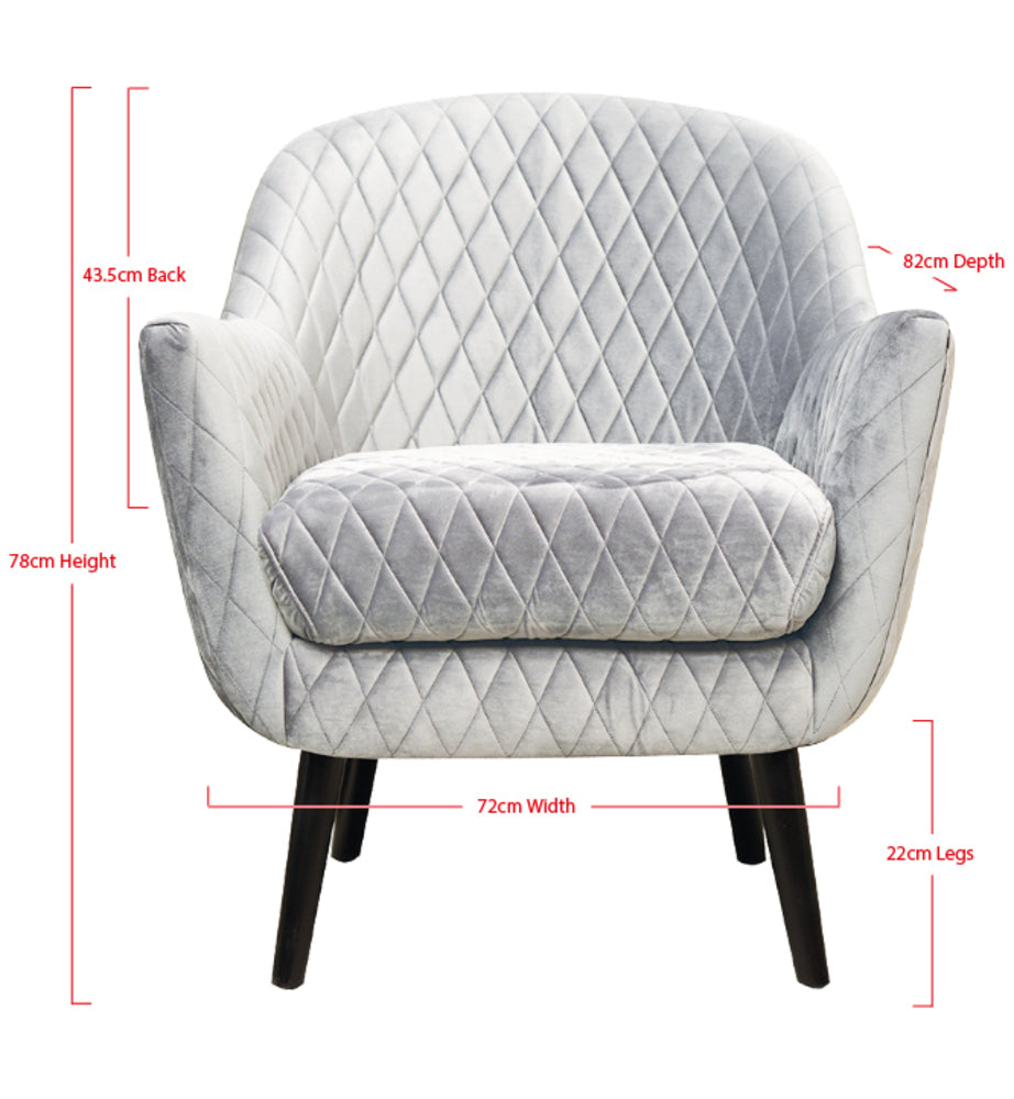 Club Chair Pebble Grey