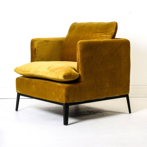 Loren Velvet Chair Bronze Mist