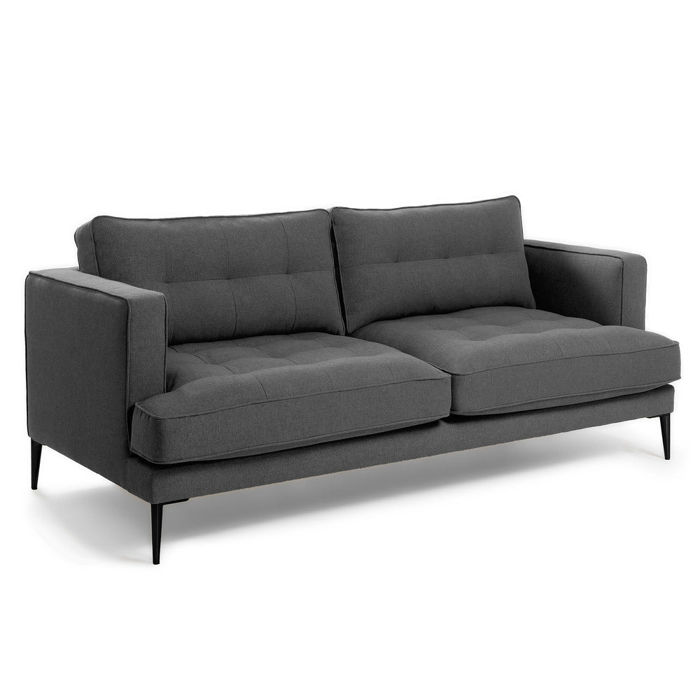 Vincent 3 Seater Sofa Dark Grey