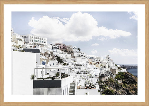 Entrance Santorini Photographic Print with Frame