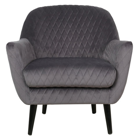 Elsbeth Occasional Chair Charcoal Velvet