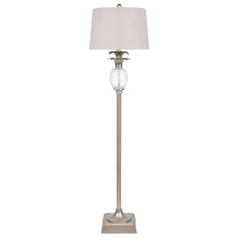 Seychelles Nickel Table Lamp Pair
