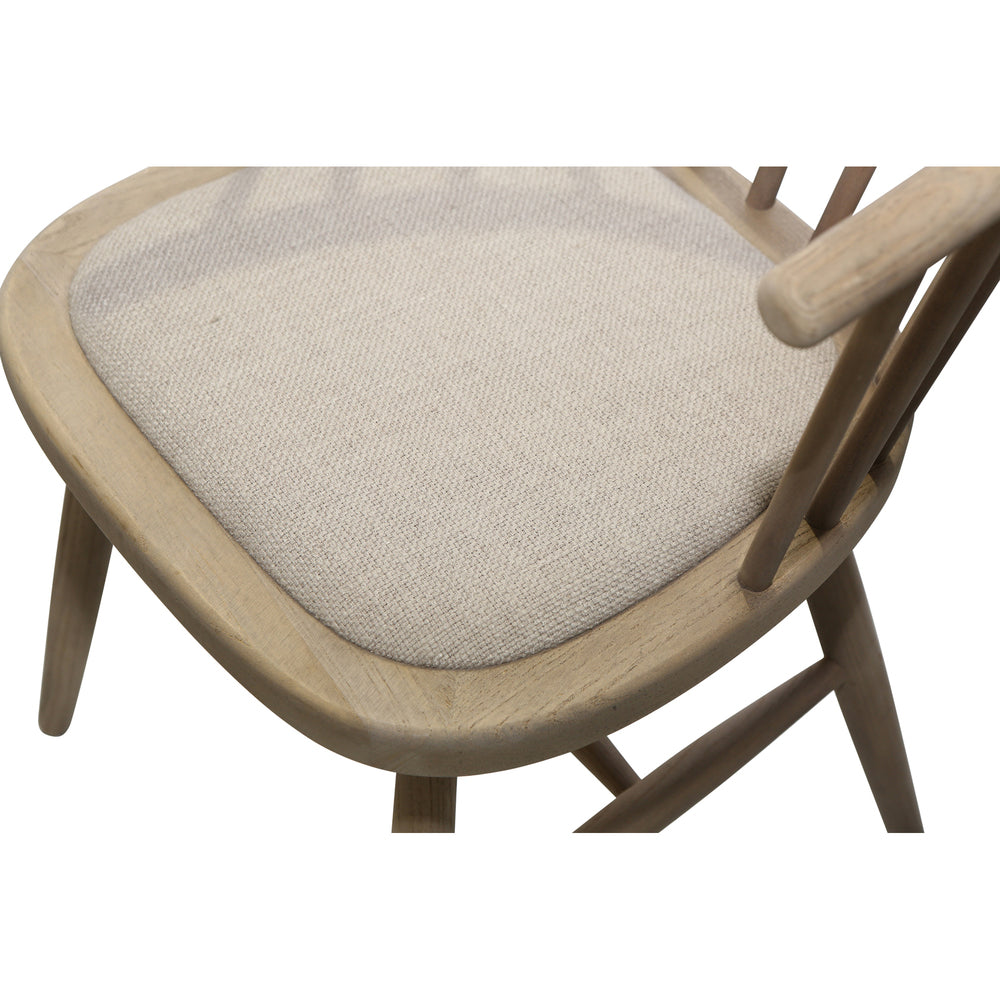 Round Curved Strip Back Dining Chair