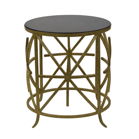 Archer Side Table Gold