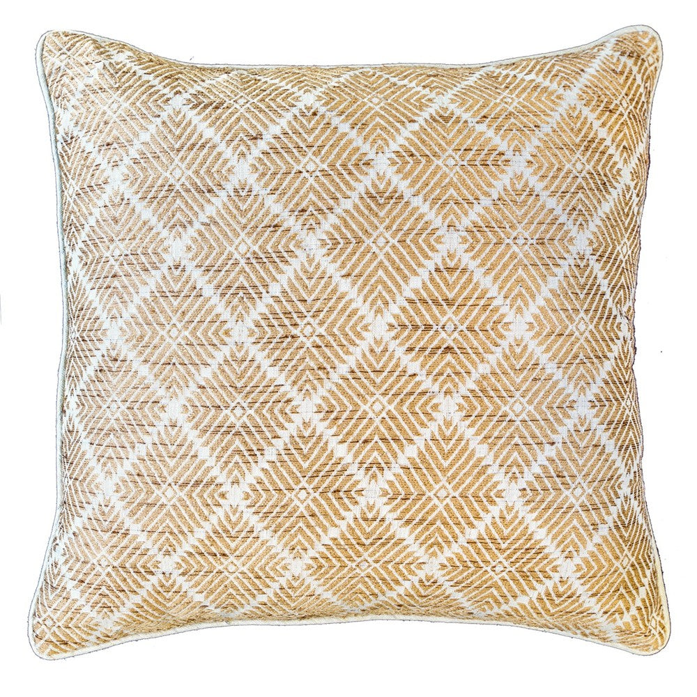 Phulkari Weave Natural Lounge Cushion