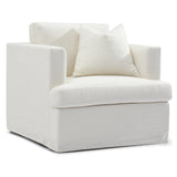 Chesapeake Slip Cover Armchair White