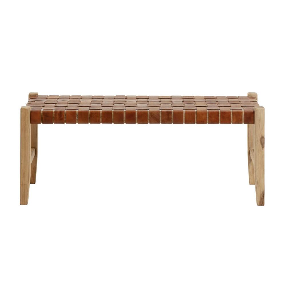 Akari Leather Bench