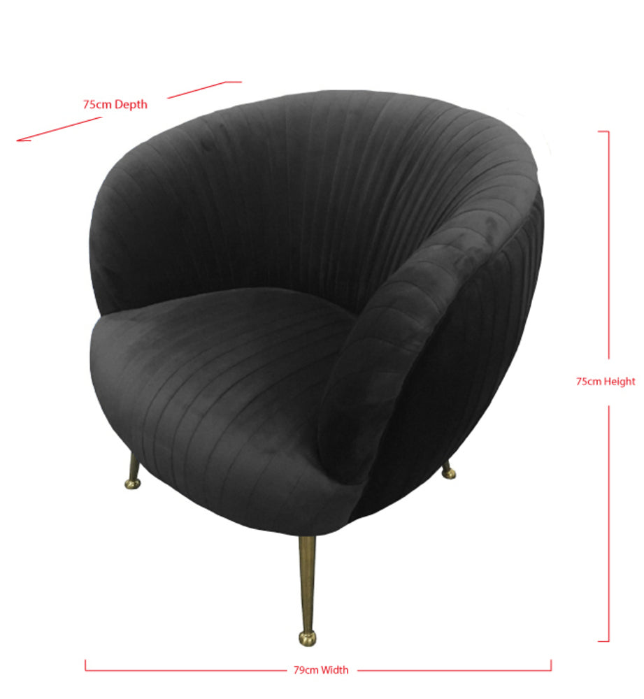 Perugia Arm Chair Black