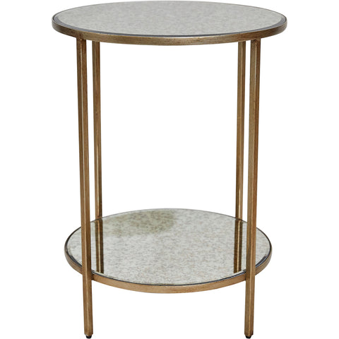 Martini Side Table Antique Gold