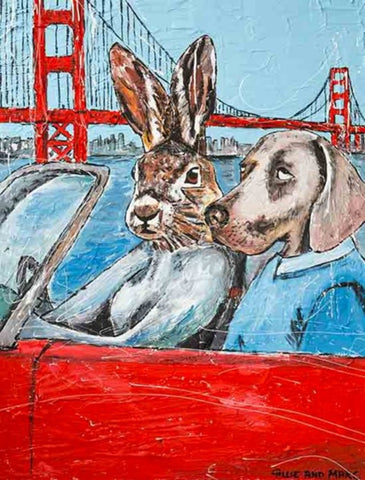 They Drove Together Through The Streets of San Francisco Print
