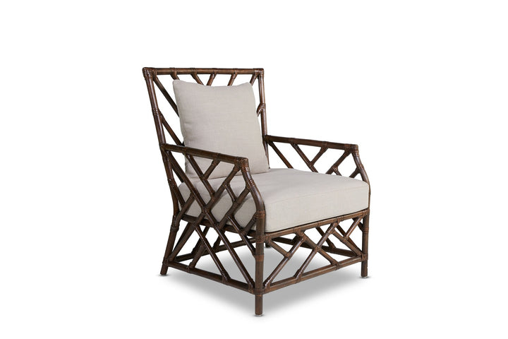 Chinois Rattan Armchair Coffee Bean