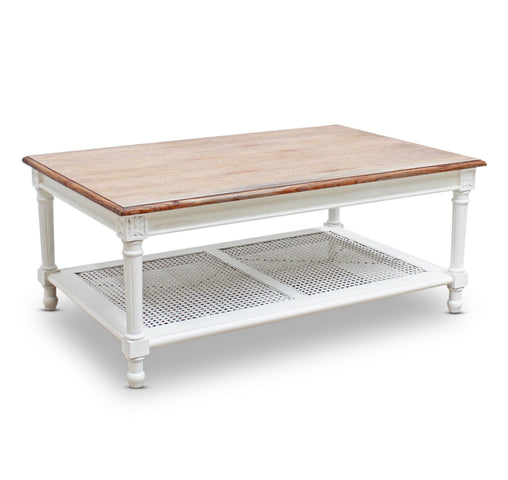 St Barts Coffee Table Weathered Oak/White
