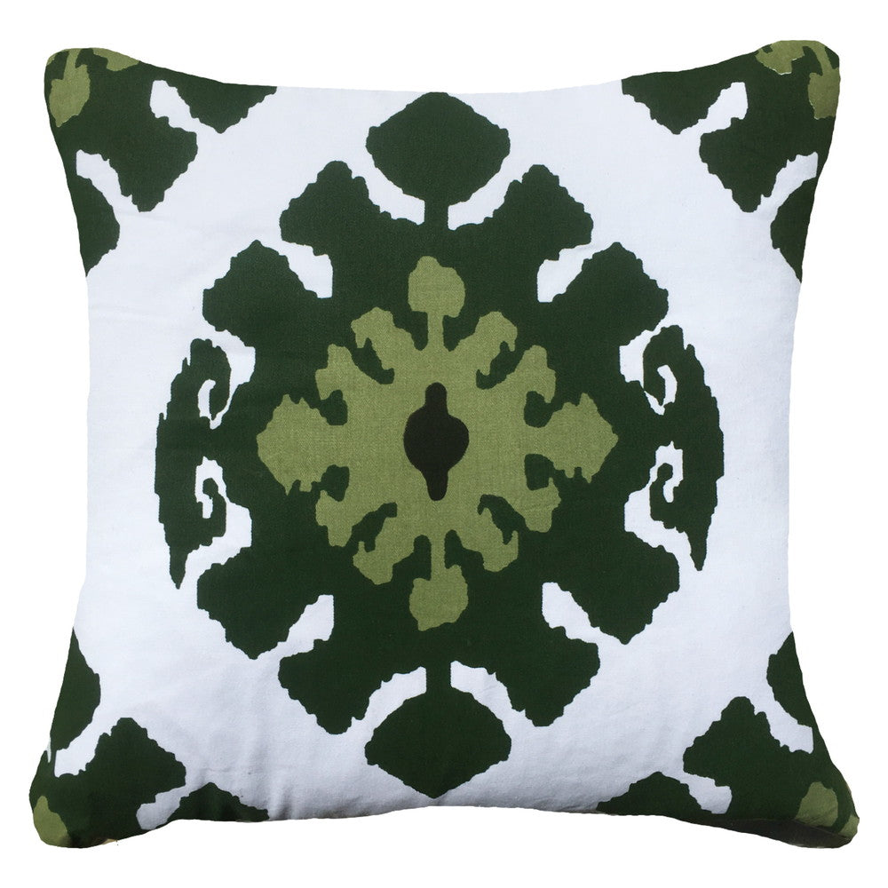 Inner Ikat Emerald Cushion