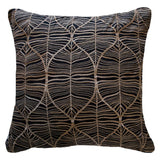 Rake Leaf Black Lounge Cushion