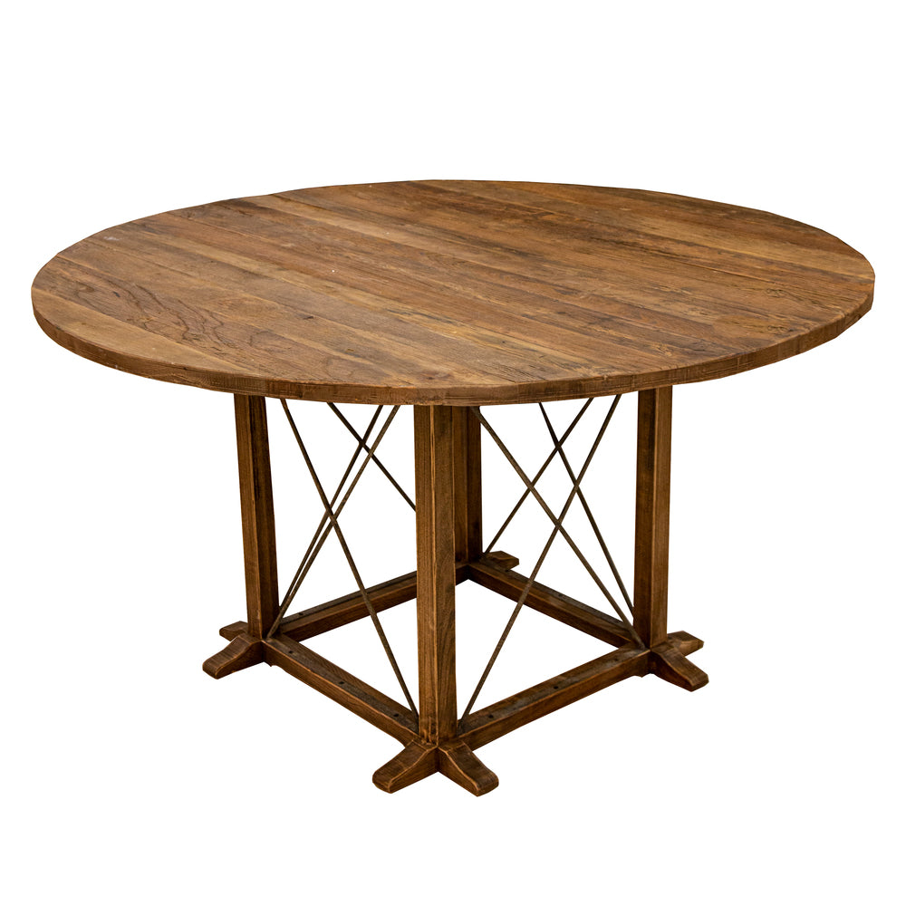 Ambroise Round Elm Dining Table
