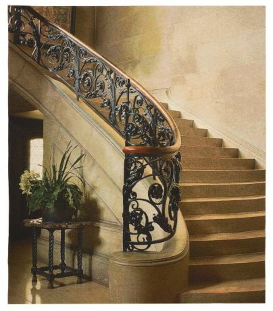 Iron Stairwell Tapestry with Rod