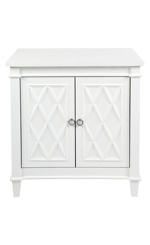 Plantation Cabinet/Bedside Table White