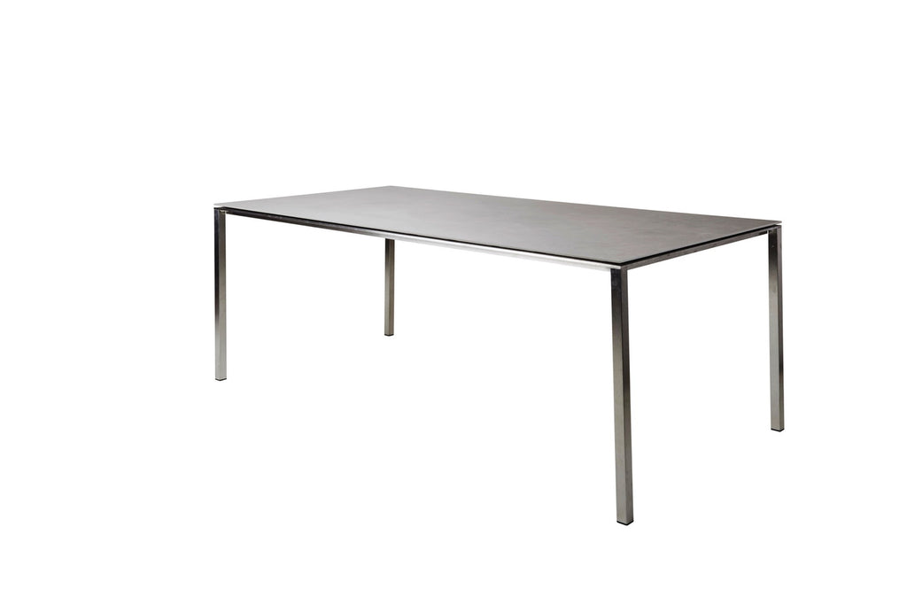 Pure Outdoor Dining Table 200cm x 100cm with Ceramic Basalt Top