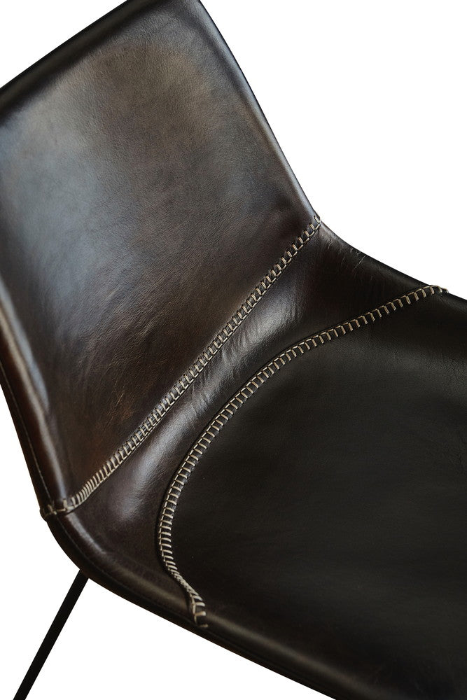 Stevie Leather Chair Chocolate