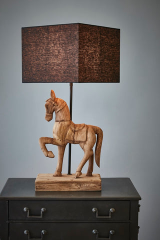Posie Wooden Dog Table Lamp