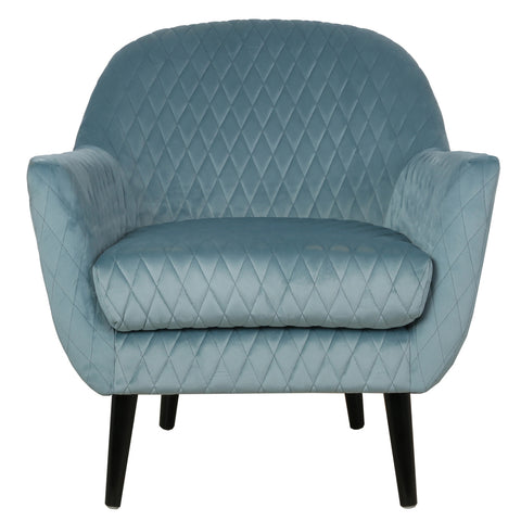 Elsbeth Occasional Chair Duck Egg Blue Velvet