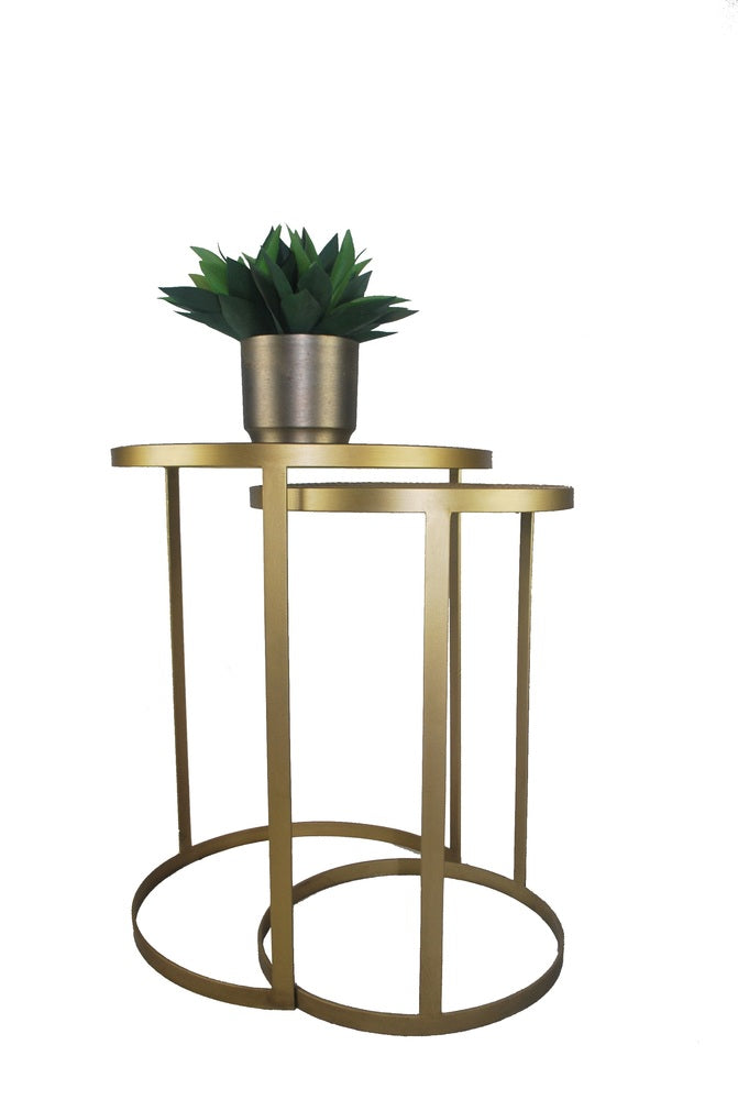 Trinidad Nesting Side Tables Brass