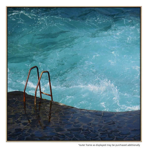 Seapool Canvas Print with Floating Frame