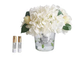 Cote Noire Hydrangeas and Rosebuds White