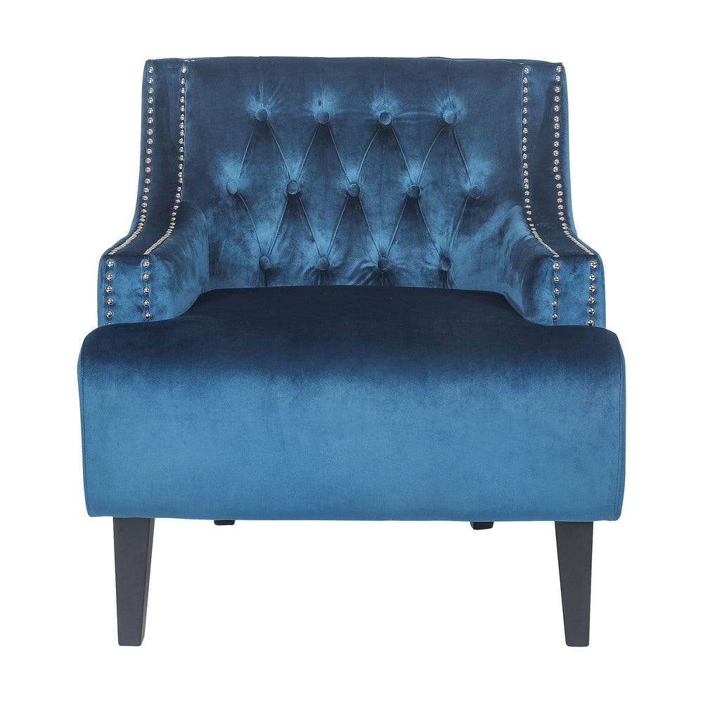Fairfield Armchair Navy Velvet