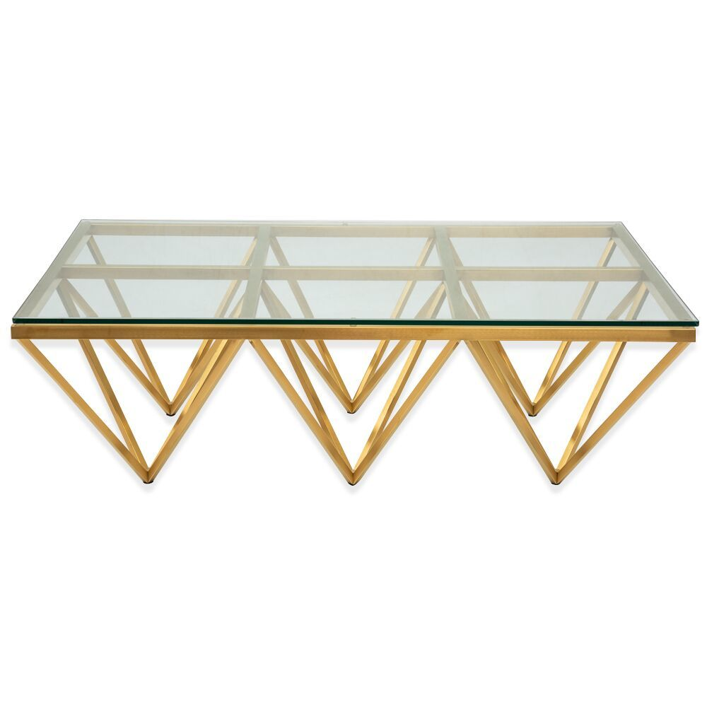Pyramid Coffee Table Rectangular Gold