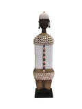 Ndamji Beaded Doll Regal White
