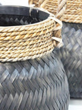 Mahui Bamboo Set/3 Baskets Black