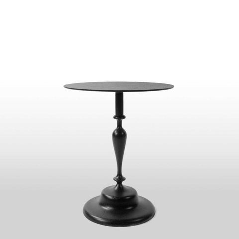 Black Aluminium Side Table Small