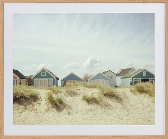 Beach Huts Photographic Framed Print
