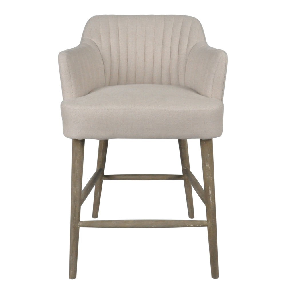 Bloom Bar Stool Beige Linen