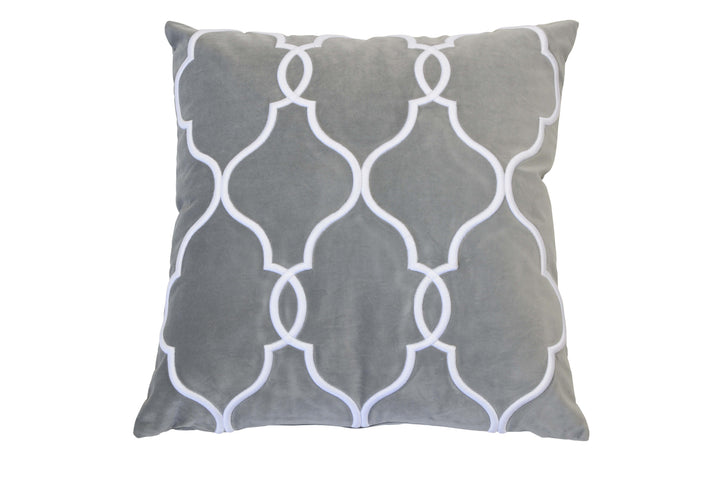 Laguna Beach Cushion Silver