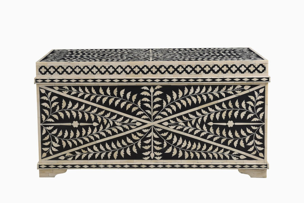 Kanpur Bone Inlay Storage Chest/ Coffee Table Large