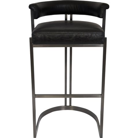 Meli Indoor/Outdoor Bar Chair Matt Black