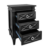 Noosa Bedside Table Small Black