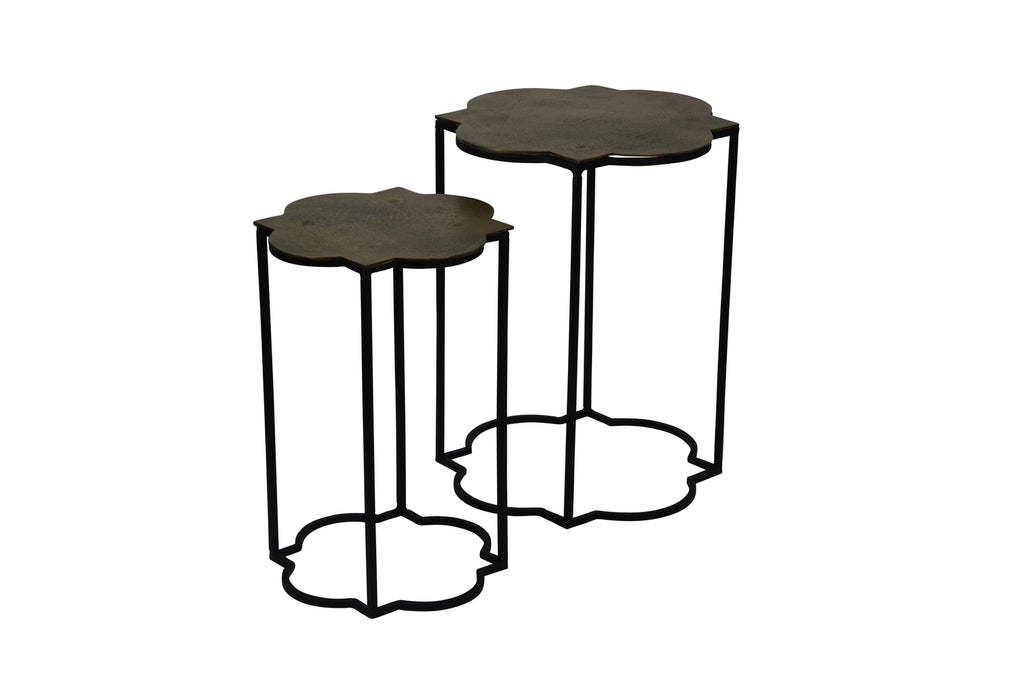 Lucca Side Tables Antique Brass Interiors Online