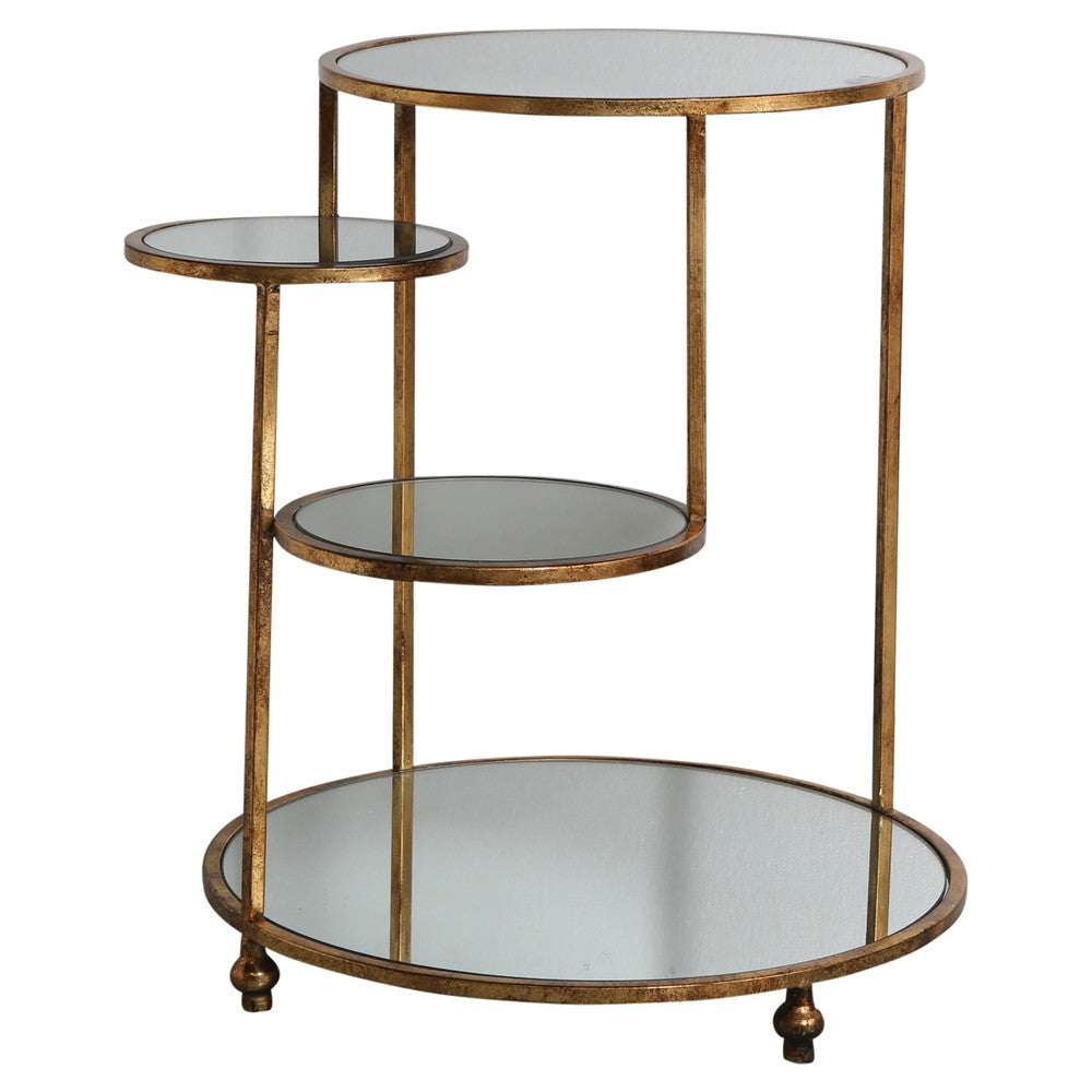 Gold Stepped 4 Tier Side Table