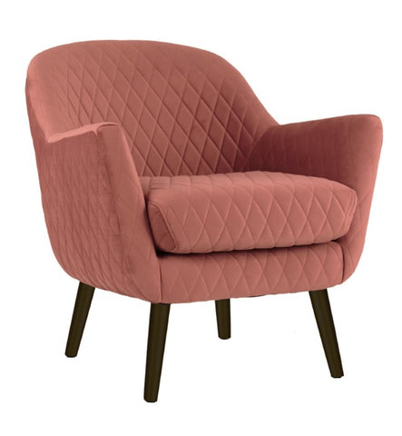 Club Chair Pink with Black Legs