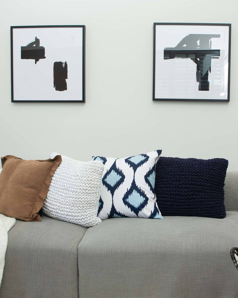 Inner Ikat Cluster Navy Lounge Cushion