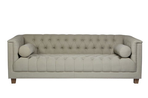 Kensington Chesterfield Grey Velvet Sofa 2 Seater