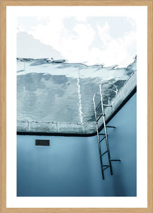 Underwater Pool photographic Print with Frame
