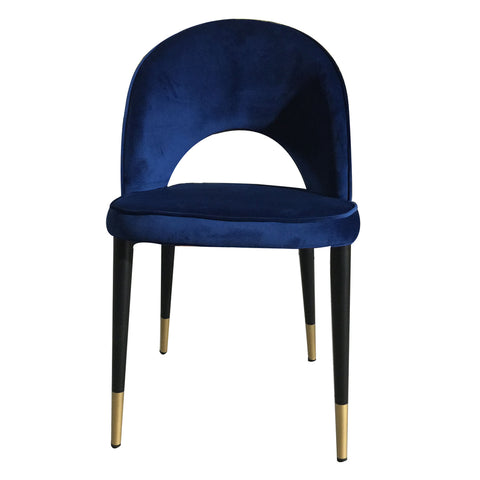 Guy Dining Chair Navy Velvet