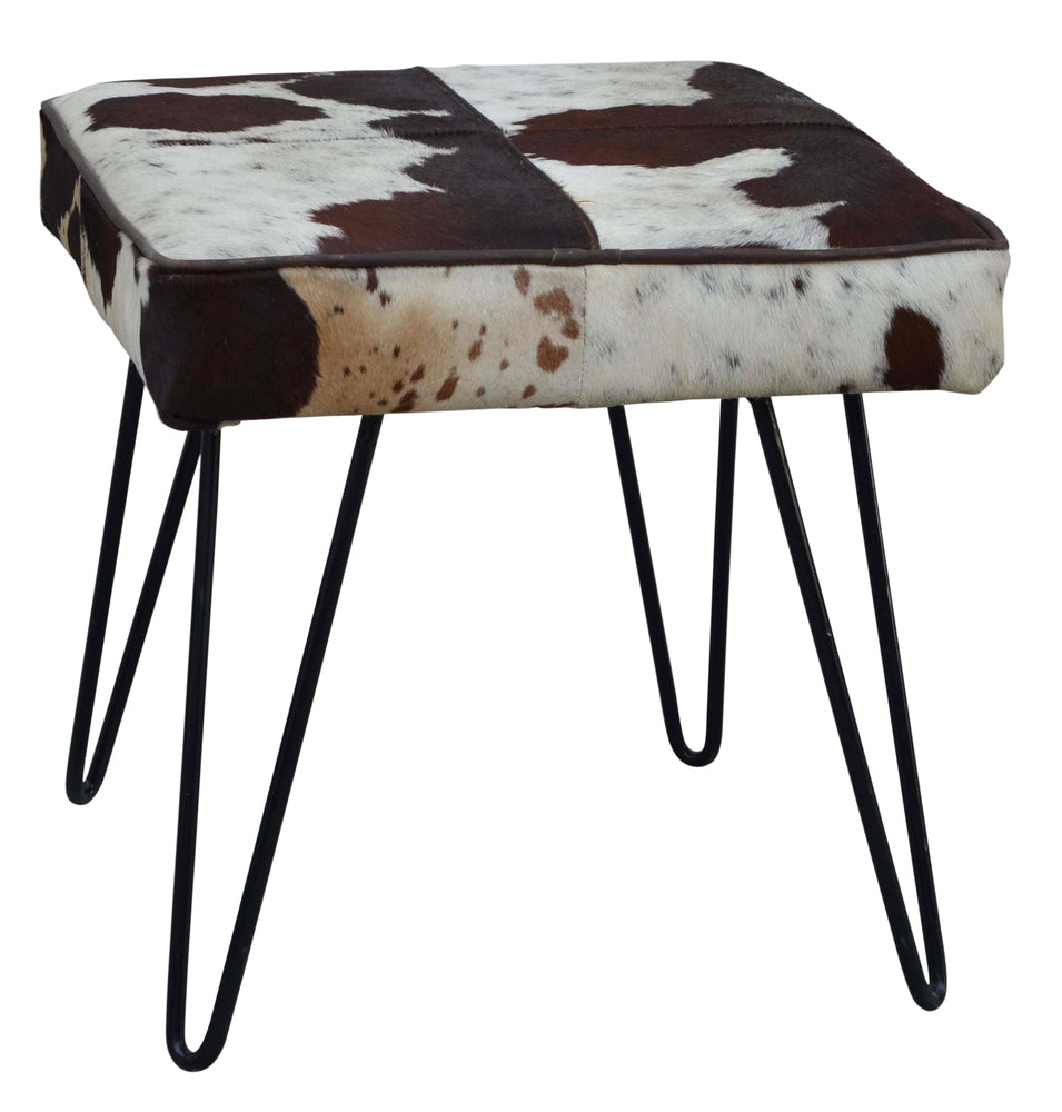 Square Cowhide Stool