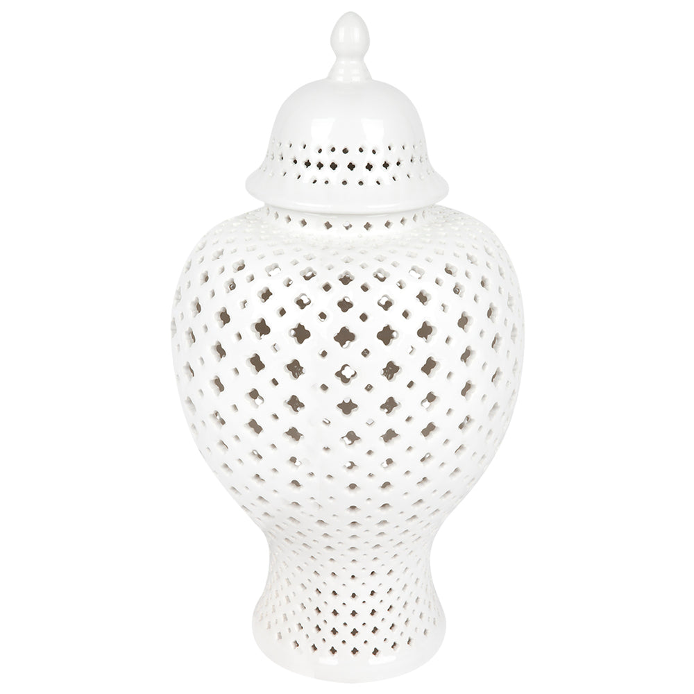 Minx Temple Jar White