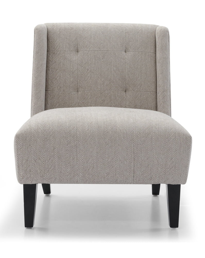 Duchess Armchair Chevron Grey