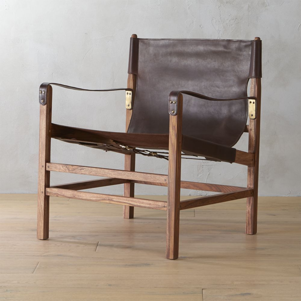 Nel Leather Safari Lounger